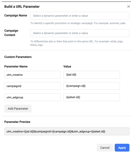 Build a URL parameter
